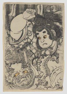 Kintoki throwing beans at a Demon by Katsukawa Shunsho II