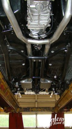 """On this 1968 Chevy Nova we did 3"""" pipes with Flowmaster"""