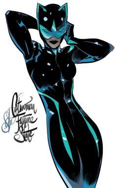 Black Catwoman, Catwoman Comic, Batgirl, Catwoman Character, Catwoman Selina Kyle, Gotham Villains, Otto Schmidt, Batman Artwork, Superhero Characters