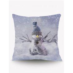 Christmas Snowman Square Cushion Throw Pillow Case