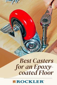 What casters won't have issues with sticking to epoxy floors? Find out here! #CreateWithConfidence #Casters #RubberWheels #EpoxyCoatedFloors #Rockler Rockler Woodworking, Learn Woodworking, Workshop Organization, Epoxy Floor, Adventurer, Fine Furniture, Floors, How To Plan, Storage