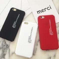Simple English couple for Apple iPhone 7 case 7plus 6 6plus 6splus case matte hard shell mobile phone shell drop resistance case