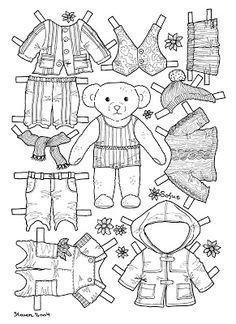 Karen`s Paper Dolls: Sofus 1-2 Paper Doll to Colour. Sofus 1-2 påklædningsdukke til at farvelægge. Coloring Book Pages, Coloring Pages For Kids, Paper Dolls Clothing, Paper Dolls Printable, Operation Christmas Child, Vintage Paper Dolls, Colored Paper, Paper Toys, Illustrations