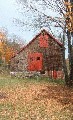 Fall Barn, Red Doors, Nice