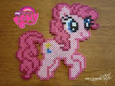 My Little Pony: Friendship is Magic, Pinkie Pie Perler Beads by RockerDragonfly