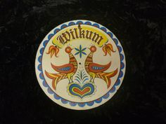 """Vintage Wilkum 8"""" Pennsylvania Dutch Hex Sign"""