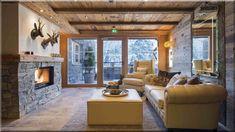 Rusztikus otthon, nappali Hálószoba alpesi vendégházban Alpesi ház Ausztriában Rusztikus stílusú nappali Rusztikus rönkház nappali (Luxuslakás 7)