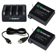 Shop for Smatree Replacement Battery And Charger + Usb Cord For Gopro Hero 4 Camera Camcorder. Starting from Choose from the 2 best options & compare live & historic camera other accessory prices. Gopro Camera, Camera Gear, Camera Bags, Leica Camera, Nikon Dslr, Film Camera, Photo Accessories, Camera Accessories, Gopro Kamera