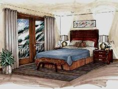 interior design hand renderings - Google Search