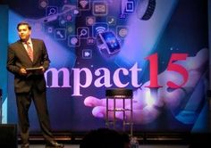 @kpmgus' Sanjaya Krishna addresses the #IMPACT15 conference on social media technology and governance wearables. #IoT