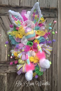 Easter Swag Spring Swag Bunny Wreath Bunny Easter by BaBamWreaths