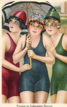Stunning Art Deco Poster Bathing Belles 1920's #artdeco