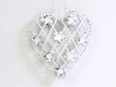 Shimmery heart ornament