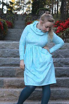 Hooded dress from Lekala