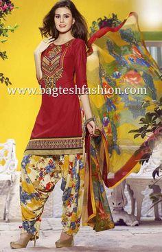 Grandiose Red Cotton Kameez #SalwarKameez #Salwarsuits #indianswear #Womenswear #IndianFashion #wedding #Bride #designer #Beauty #Fashion #Style #Suits #Indiansuits