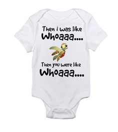 Finding Nemo  Squirt Inspired Onesie  Then I was by DaysWeDesign, $13.99