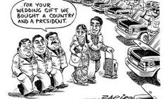 Zapiro'S latest cartoon likens the guptas to rats [image Cartoon Drawings Of People, Sketches Of People, Cartoon Girl Drawing, Guy Drawing, Drawing People, News South Africa, Latest Cartoons, Jacob Zuma, Drawing Videos For Kids