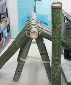 stefan diez reinterprets the traditional bamboo bench for japan creative Kochi, Bamboo Shop, Chicago Furniture, Street Furniture, Bamboo Building, Bushcraft Skills, Bamboo Structure, Bamboo Canes, Driftwood Sculpture