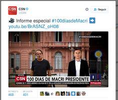 Piedra OnLine: Informe  especial: 100 Días de Macri.-