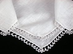 Vintage Linen Tatted Lace Bridal Wedding by littlebitvintage2, $8.99