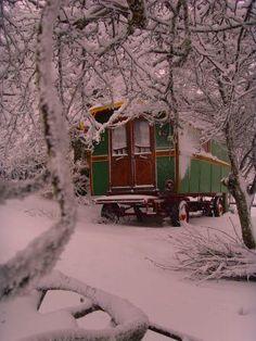Gypsy caravan in winter...