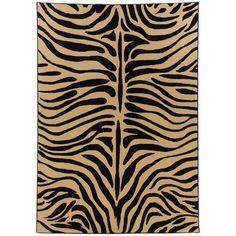 "cornerstone area rug in zebra color 9'10""x12'10"""
