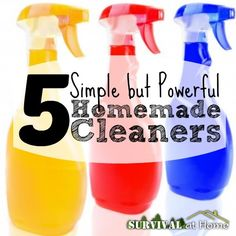 5 Simple But Powerful Homemade Cleaners  (via Survival at Home)