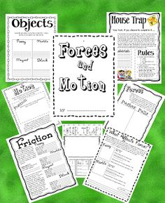 3 Teacher Chicks: Fabulous Force and Motion (free packet to print with mousetrap project)