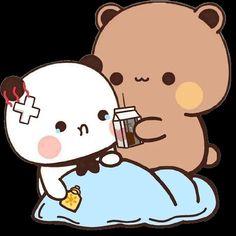 Little Panda, Cute Love Cartoons, Cute Gif, Cartoon Wallpaper, Panda Bear, Cute Stickers, Chibi, Hello Kitty, Neverland