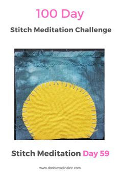 Simple shapes and running stitches for Day 559 of the 100 Day Stitch Meditation Journey. Meditation, Running Stitch, Simple Shapes, 100th Day, Hand Stitching, Stitches, Challenges, Journey, Invitations