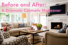 Before and After: A Dramatic Cosmetic Makeover (paint saves the day!)