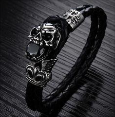 Awesome Really BADASS Skull Bracelet