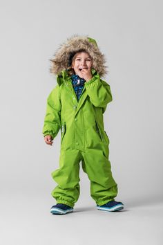 "Bring some colour to the dark winter days with this green ""Stavanger"" overall."