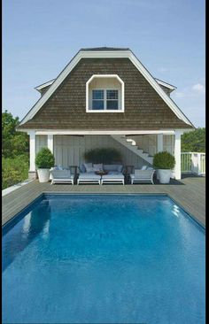 Deck Colors, Benjamin Moore, Beautiful Pools, Shingle Colors, Chelsea Gray,  Exterior