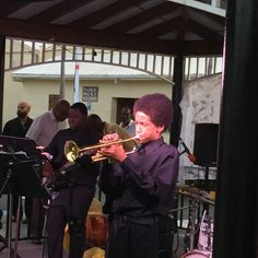 Keyshawn Hardy from #StCroix, #trumpeter with the #UJFYouthEnsemble. — at An Evening of Jazz with Dion Parson & Friends.