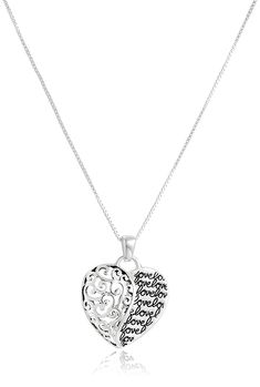 Sterling Silver with Gold Flashed Love Mother and Son Forever Heart Pendant Necklace *** Details can be found by clicking on the image. (This is an Amazon Affiliate link)