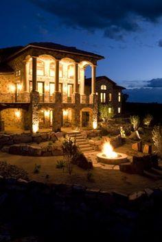 Dramatic in Utah. Dale Browne Design.  #landscapelighting