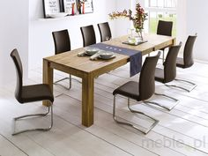 Dining Table Paul in Wild Oak - Oiled - Extendable Conference Room, Dining Table, Furniture, Home Decor, Drawing Rooms, Dinning Table, Meeting Rooms, Interior Design, Dining Rooms