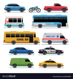 Car flat icons public city transport bus cars vector image on VectorStock Flat Design Illustration, Car Illustration, Flat Icons, Bedroom Drawing, City Vector, Life Car, Cartoon Background, Car Drawings, Kawaii Drawings