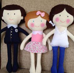 Custom made Family Kids Plush Doll Great gift by AngelArtbyOzlem