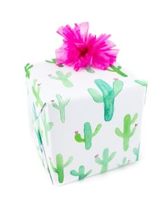 What could be cuter than this cacti inspired gift wrap? Your packages will be…