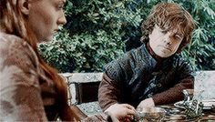 a mess. obsessed with BAMF guys. a Lannister but a Stark by heart. Tyrion And Sansa, Sansa Stark, Watch Game Of Thrones, Game Of Thrones Art, Wolf, Game Of Trones, Fire Book, Got Memes, Love Games