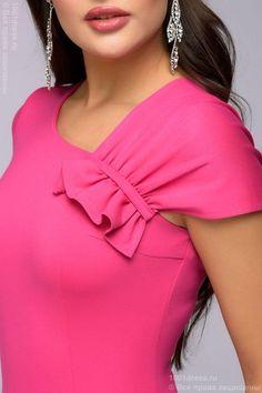 Платье-футляр цвета фуксии 1001DRESS