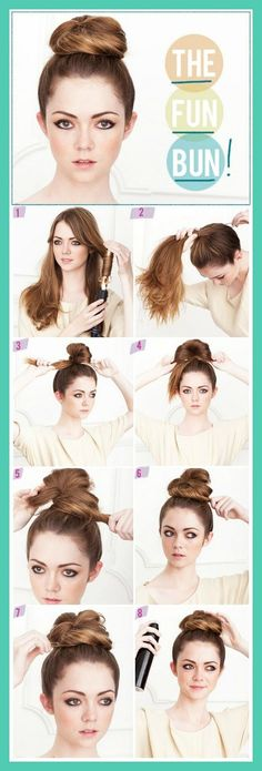 DIY Everyday Hairstyles School Step by step----took a few tries, but once I got the hang of it, I loved it:)