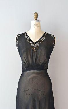 1930's Sheer Beaded Gown