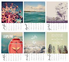 2014 Calendar Photography Typography Daydreams door AliciaBock