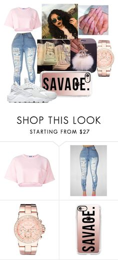 """AYE"" by jasmine2486 ❤ liked on Polyvore featuring Steve J & Yoni P, Michael Kors, Casetify and NIKE"