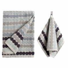 Beautiful and soft to the touch | Marimekko Räsymatto Grey Towels