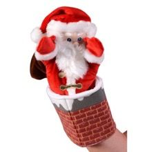 Santa In The Chimney Glove Puppet