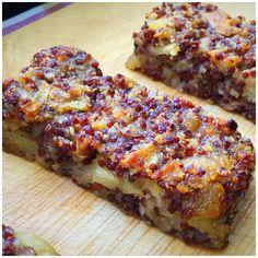 Budinca din quinoa cu nuci, chia, mar si scortisoara - My Baby Food Baby Food Recipes, Dessert Recipes, Cooking Recipes, Healthy Recipes, Quinoa, Candida Diet, Breakfast Snacks, Toddler Meals, Raw Vegan